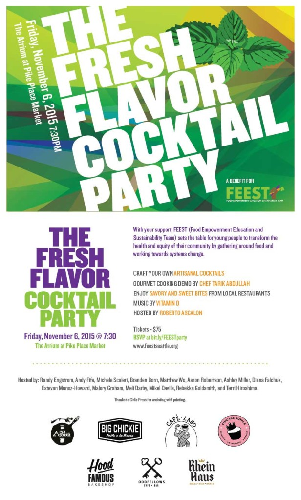 The Fresh Flavor Cocktail Party invitation
